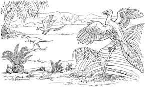 Archaeopteryx Coloring Sheet For Print