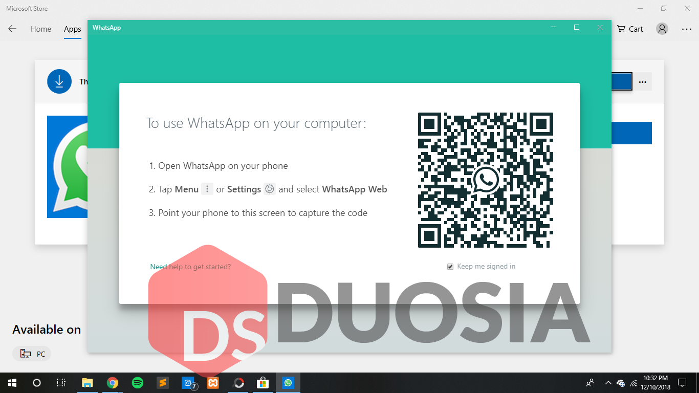 install whatsapp di microsoft store
