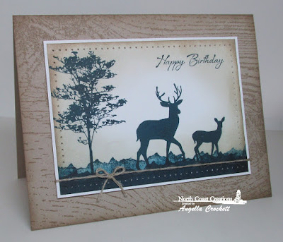 North Coast Creations Deer Silhouette Greeting, Our Daily Bread designs Wood Background, Card Designer Angie Crockett