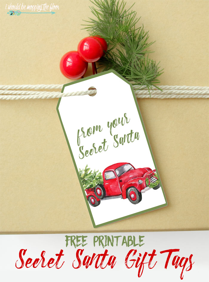Free Printable Secret Santa Gift Tags I Should Be Mopping The Floor