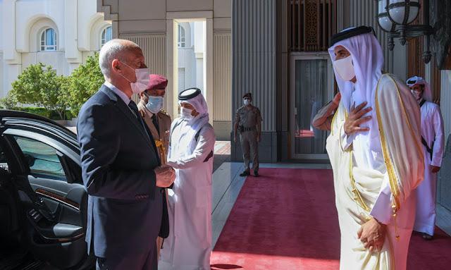أمير قطر يستقبل رئيس الجمهورية قيّس سعيّد في الديوان الأميري (صور)