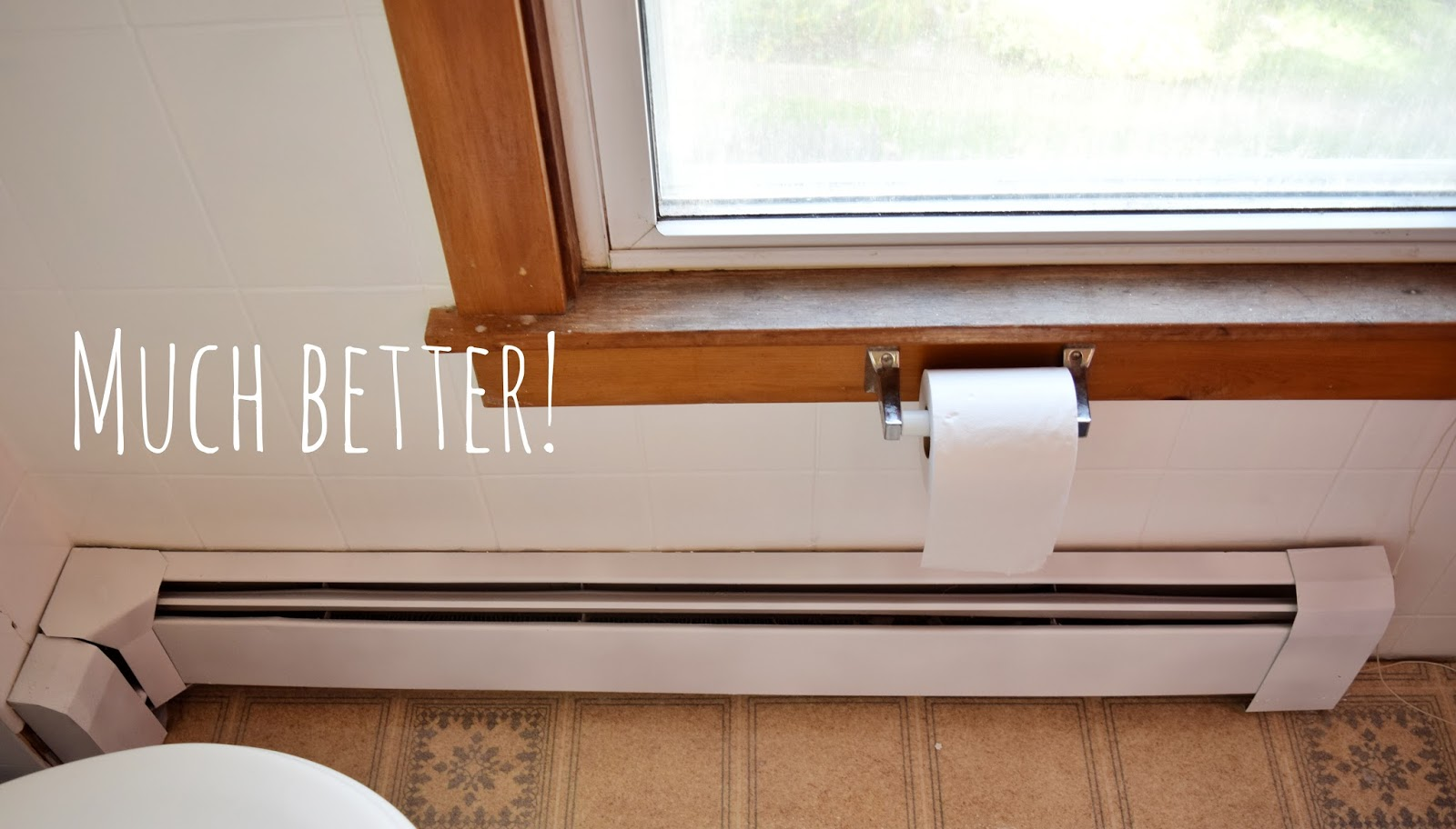 DIY Bathroom: Baseboard Heaters and Wallpaper Borders ...