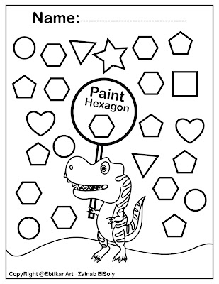 dinosaur preschool free printable coloring pages for preschoolers pre k coloring basic shapes for kids