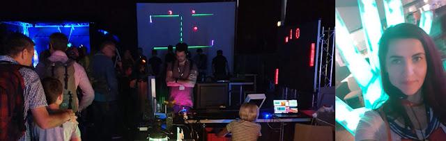Dunkle Halle auf der Maker Faire Hannover 2019