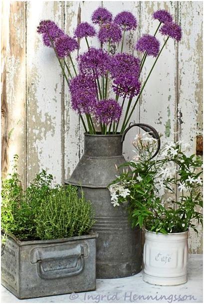 Pot Bunga dari Daur Ulang Perabot Dapur Bekas