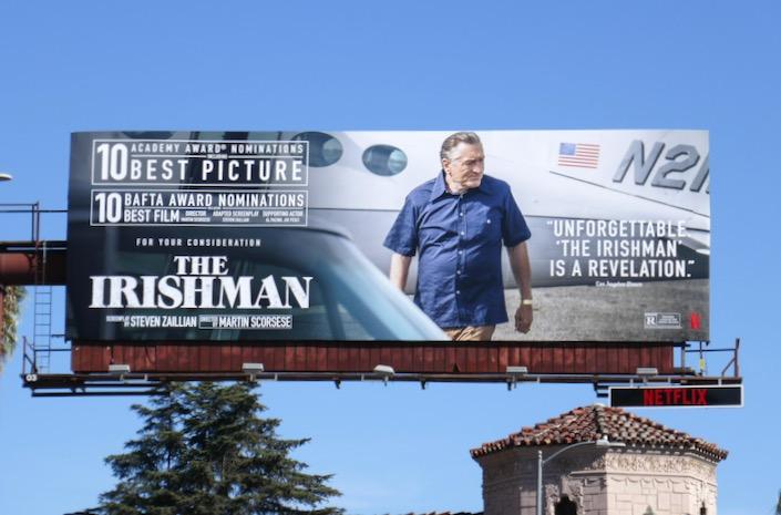 Irishman Best Picture Oscar nominee billboard
