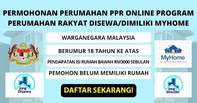 Cara Memohon Perumahan Ppr Online Program Perumahan Rakyat Disewa Dimilki Myhome 2020 Malaysia Kerjaya