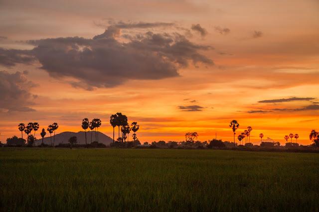 The last light sunset