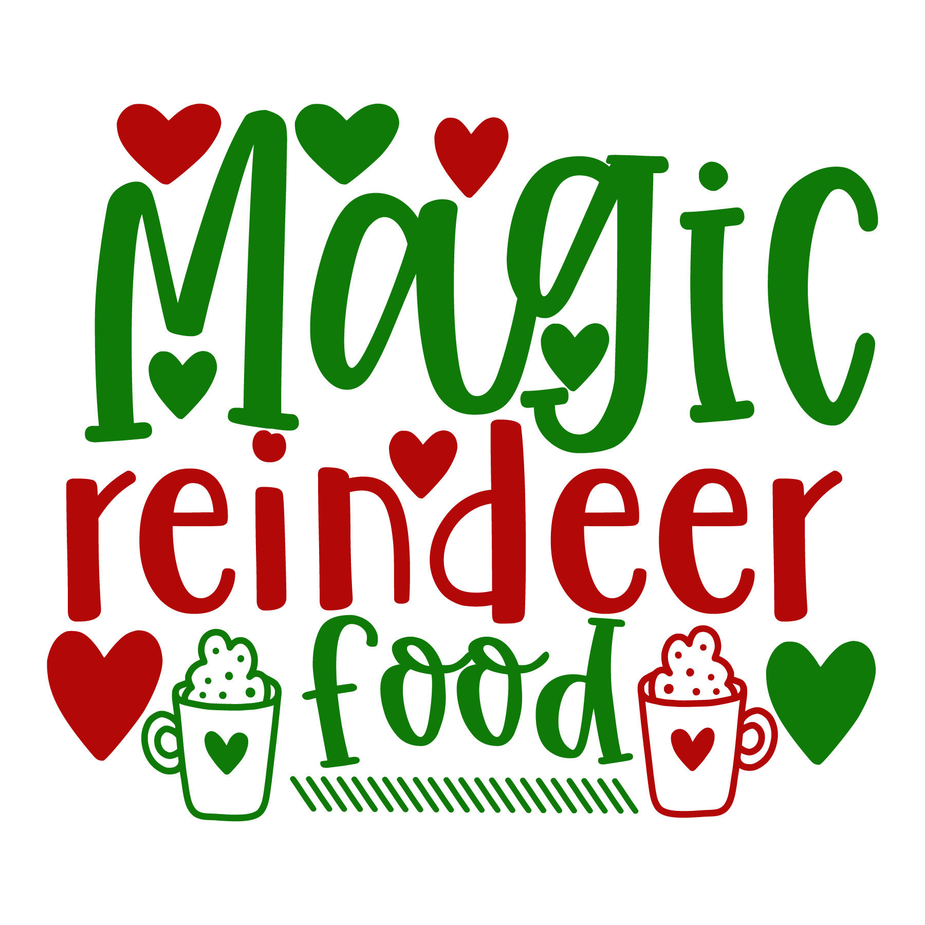 Magic Reindeer Food SVG Cut Files