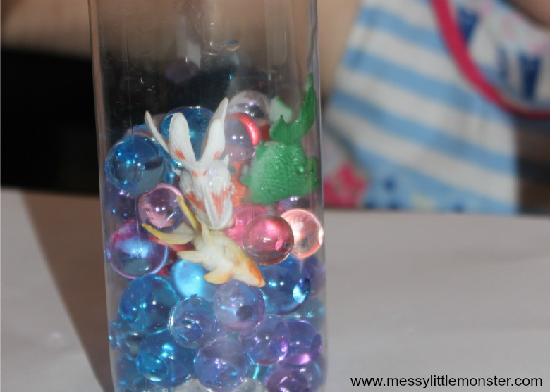 making sensory bottles for babies and toddlers