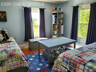 A Minimalist Montessori Shared Bedroom for Teens and Preteens: Storage Ideas