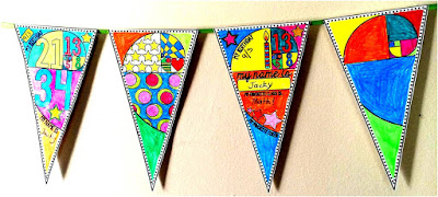 get to know you ice breaker pennant banner activity