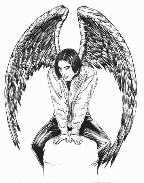 Free Coloring Pages Of Anime Dark Angel Girl