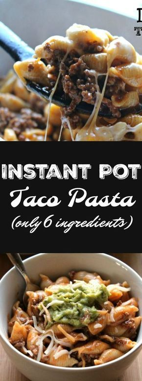 Instant Pot Taco Pasta #dinner #maincourse #american #italian #mexican #easy #meal #groundbeef #instantpot #pasta #quickmeal #taco