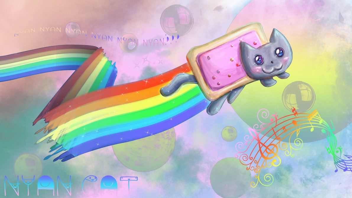 The Wallpaper Backgrounds Nyan Cat Wallpaper