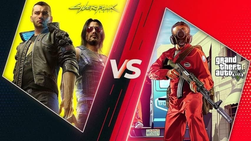 gta 5 vs Cyberpunk 2077