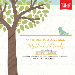 What's Up! Wednesday - My Wonderful Family April 2020 Paper Pumpkin Kit (Sign Up Now!)