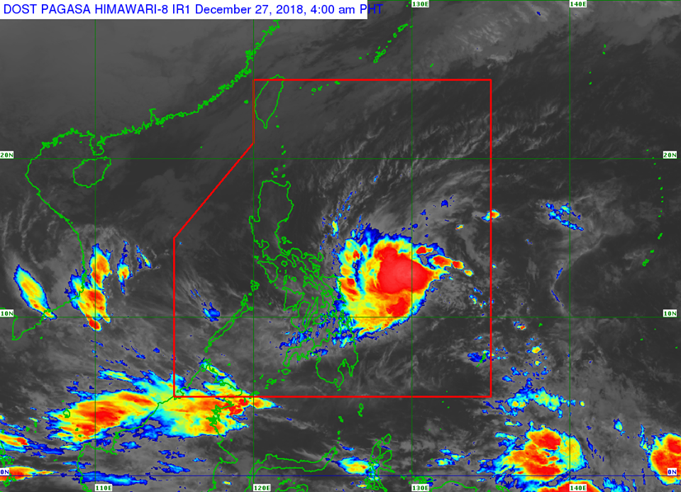 Satellite image of Tropical Depression Usman