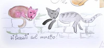 A casa di eli per l 39 ora del t come disegnare gatti - Disegnare sul muro di casa ...