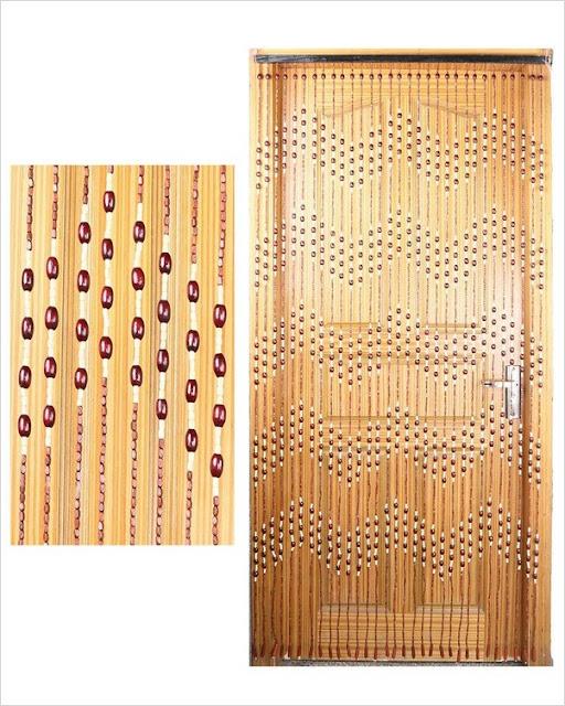 buy wooden beaded curtains for doorways