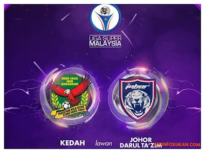 Live Streaming Kedah vs JDT FC Liga Super 28 Oktober 2017