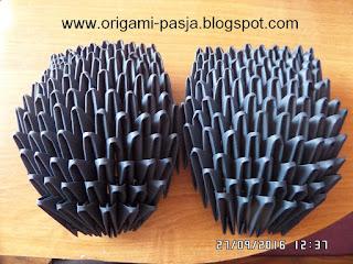 Jak zrobić kłapouchego metodą origami 3d, modułowe - kurs, schemat, tutorial, opis, diy