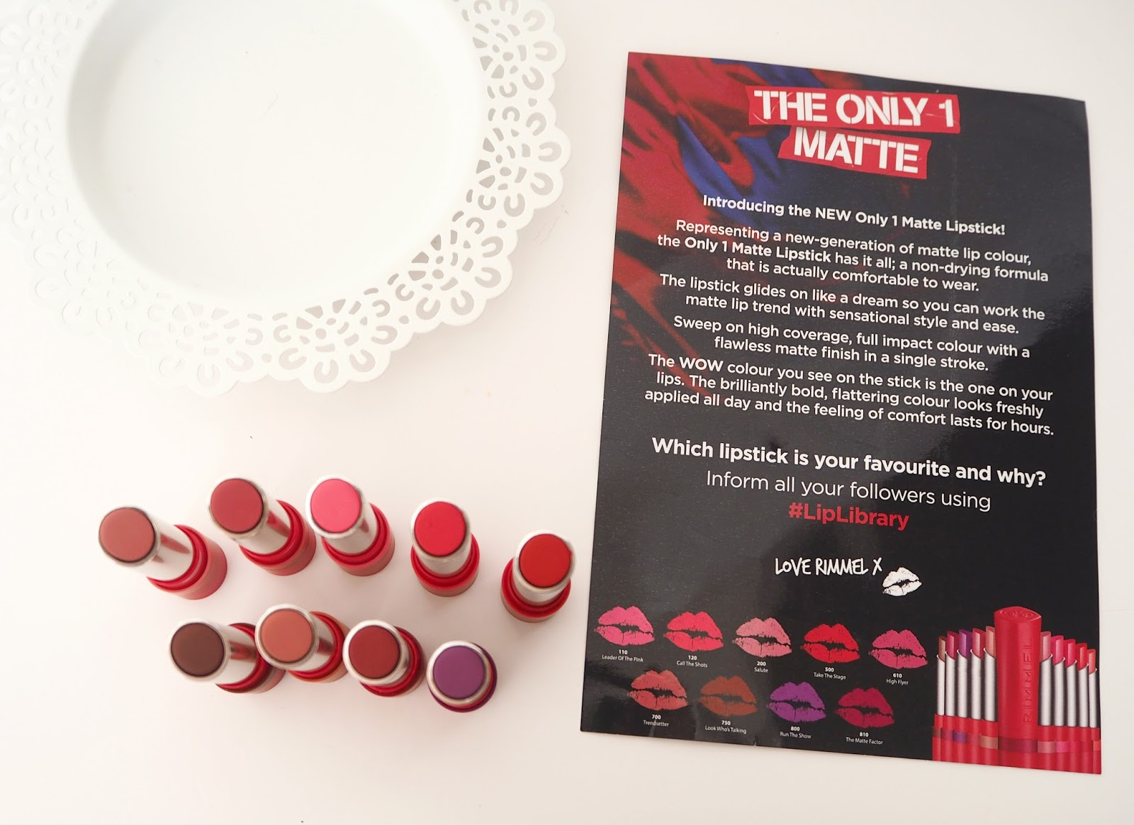 Rimmel London The Only 1 Matte Lipstick Collection, Katie Kirk Loves, Lipstick Swatches, Make Up Swatches, Beauty Blogger, Rimmel London, Matte Lipsticks, Make Up Review, Lipstick Collection, UK Blogger