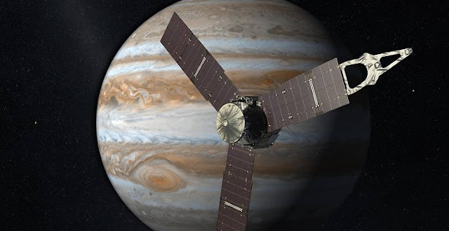 Artist's impression of NASA's Juno mission. Credit: NASA
