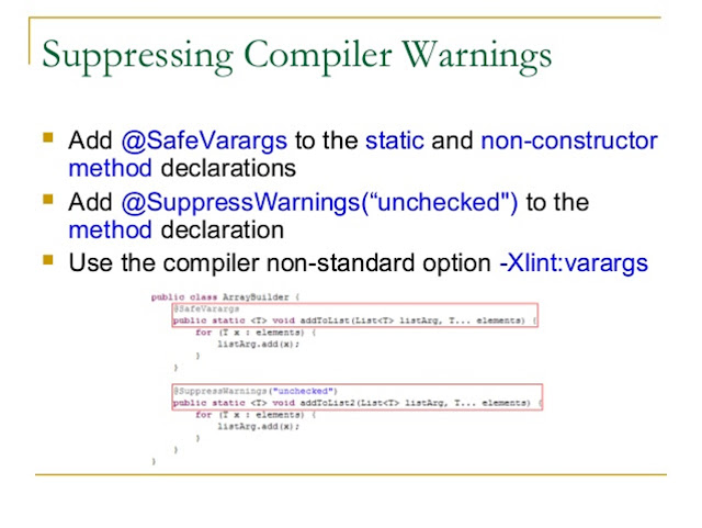 SuppressWarnings Annotation in Java Unchecked Rawtype Serial