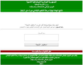 نتائج شهادة التعليم الابتدائي السانكيام دوة ماي 2019 جميع ولايات الجزائر