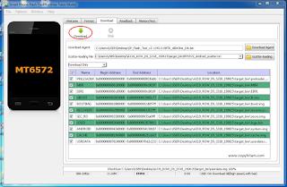 Cara Flashing atau instal ulang lenovo A319 via FlashTool SP_Flash_Tool_v5.1343.01
