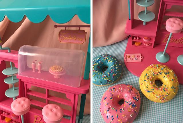 confeitaria da Barbie com nova pintura nos docinhos
