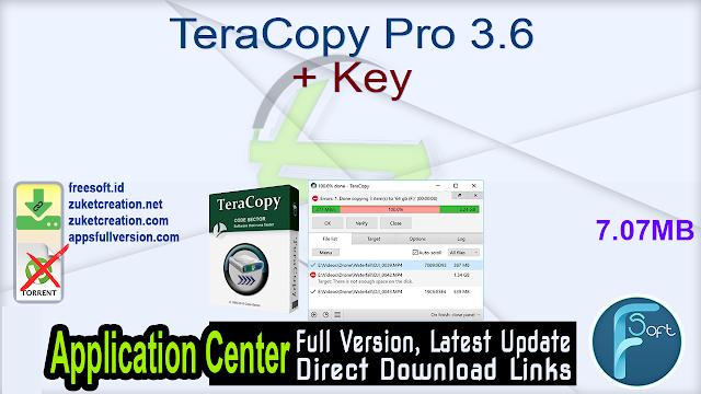 TeraCopy Pro 3.6 + Key