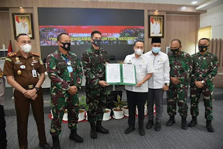 Bupati Batubara Tanda Tangani Berita Acara Pelaksanaan TMMD Dengan Kodim 0208/ Asahan
