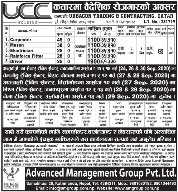 Jobs in Qatar for Nepali, salary up to Rs 61,330