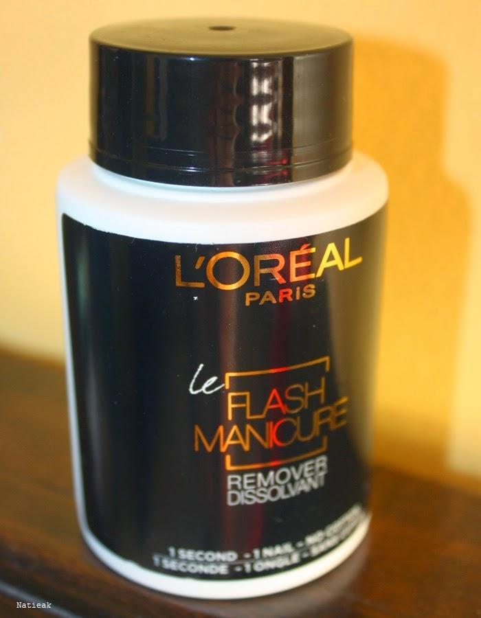 dissolvant Flash manicure de  l'Oréal