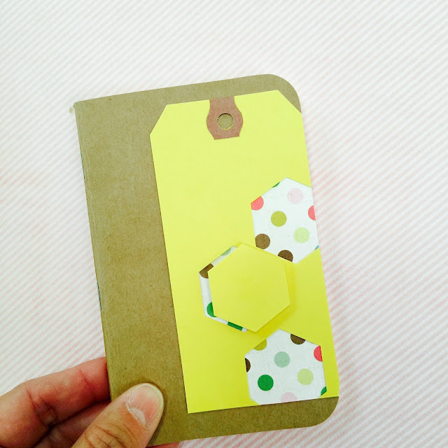 #hexagon #shipping tag #tag #yellow #polka dot
