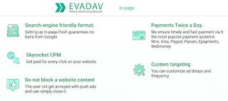 Publicidad In-Page de Evadav