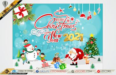 Phông nền giáng sinh - Merry Christmas dễ thương