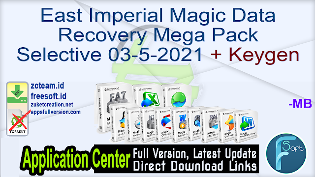 East Imperial Magic Data Recovery Mega Pack Selective 03-5-2021 + Keygen_ ZcTeam.id