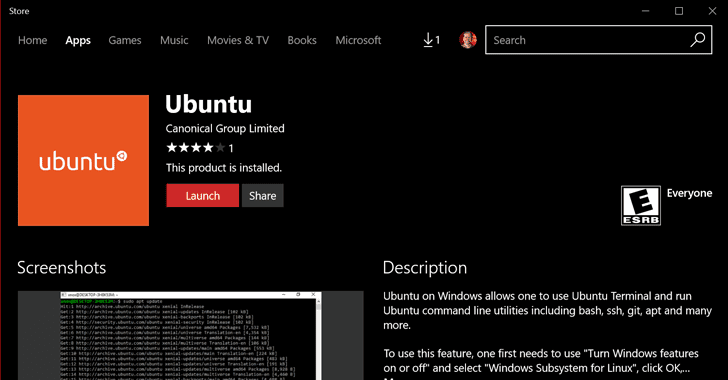 Ubuntu Linux for Windows 10 Released — Yes, You Read it Right