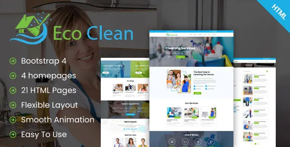 Eco Clean Cleaning HTML Template