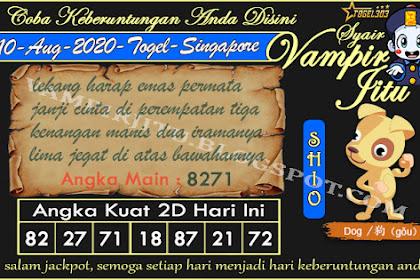 Syair Vampir Jitu Togel SGP Senin 10 Agustus 2020