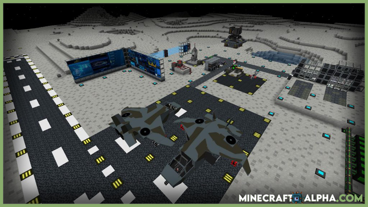 Moon, Spaceship And Space Stations Minecraft Mod Download