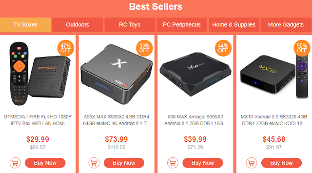 Super Deals for TV Box / Outdoors / RC Toys / Gadgets     Starting at $0.99