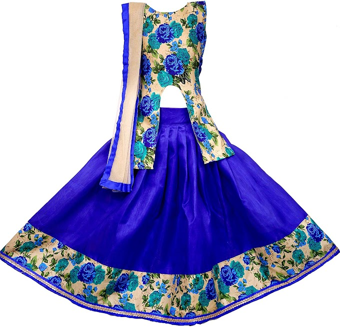 Arrow Fashion Baby Girl Net Lehenga Choli (Blue)
