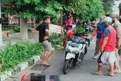 Tabrak Trotoar Jalan, Pengemudi Motor di Kediri Meninggal