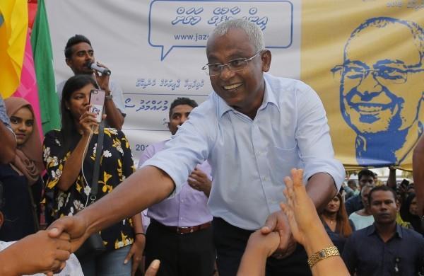 Tổng thống Solih trong ngày trúng cử