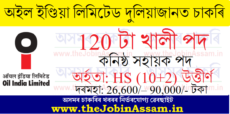 Oil India Limited Duliajan Recruitment 2021: