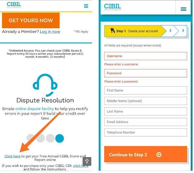cibil score check in hindi
